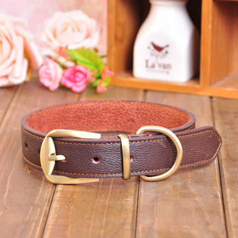 High Quality Genuine Leather Dog Collar