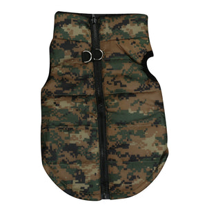 Army Style Camo Vest for Dogs