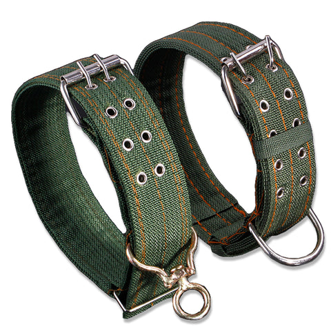 Strong Canvas Nylon Dog Collar - Army Green