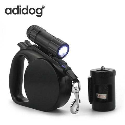 Pet Dog Leash with LED Light, & Clean Up Bag