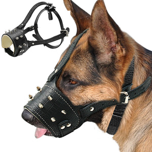 Cool Spiked and Studded Dog Muzzle