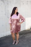 Velvet Dress with Bell Sleeves