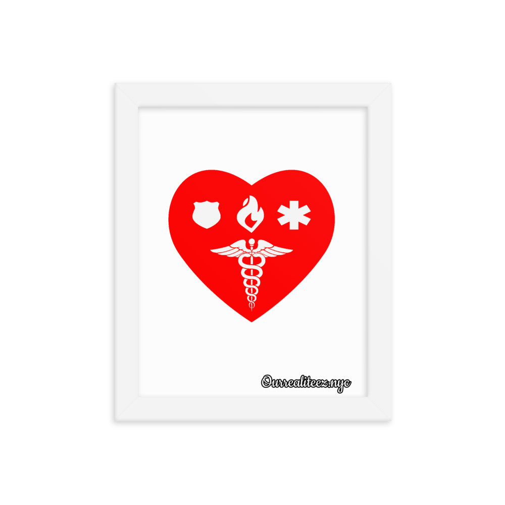 Healthcare 1st Responder Love Framed poster