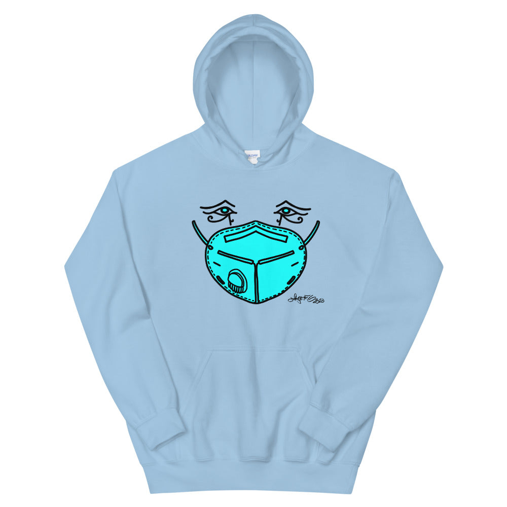 Hooded Sweatshirt - Blue Mask Eyes