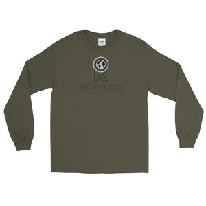 Men's Long Sleeve Shirt - Dark Logo on Deck