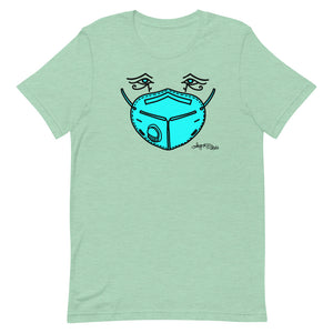 Unisex Short-Sleeve T-Shirt - Blue Mask Eyes