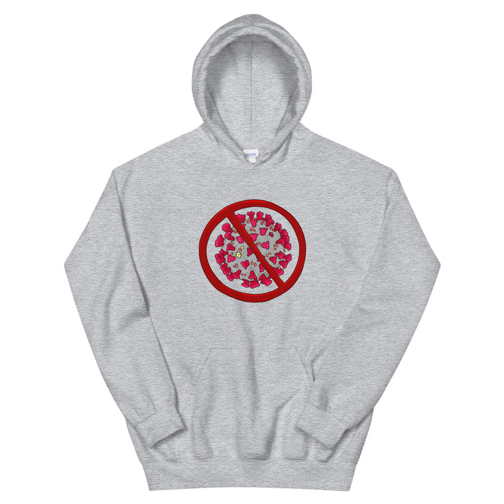 Hooded Sweatshirt - No Covid19 Sign