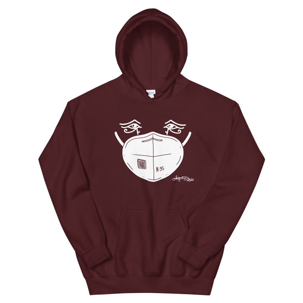 Hooded Sweatshirt - White Mask Eyes