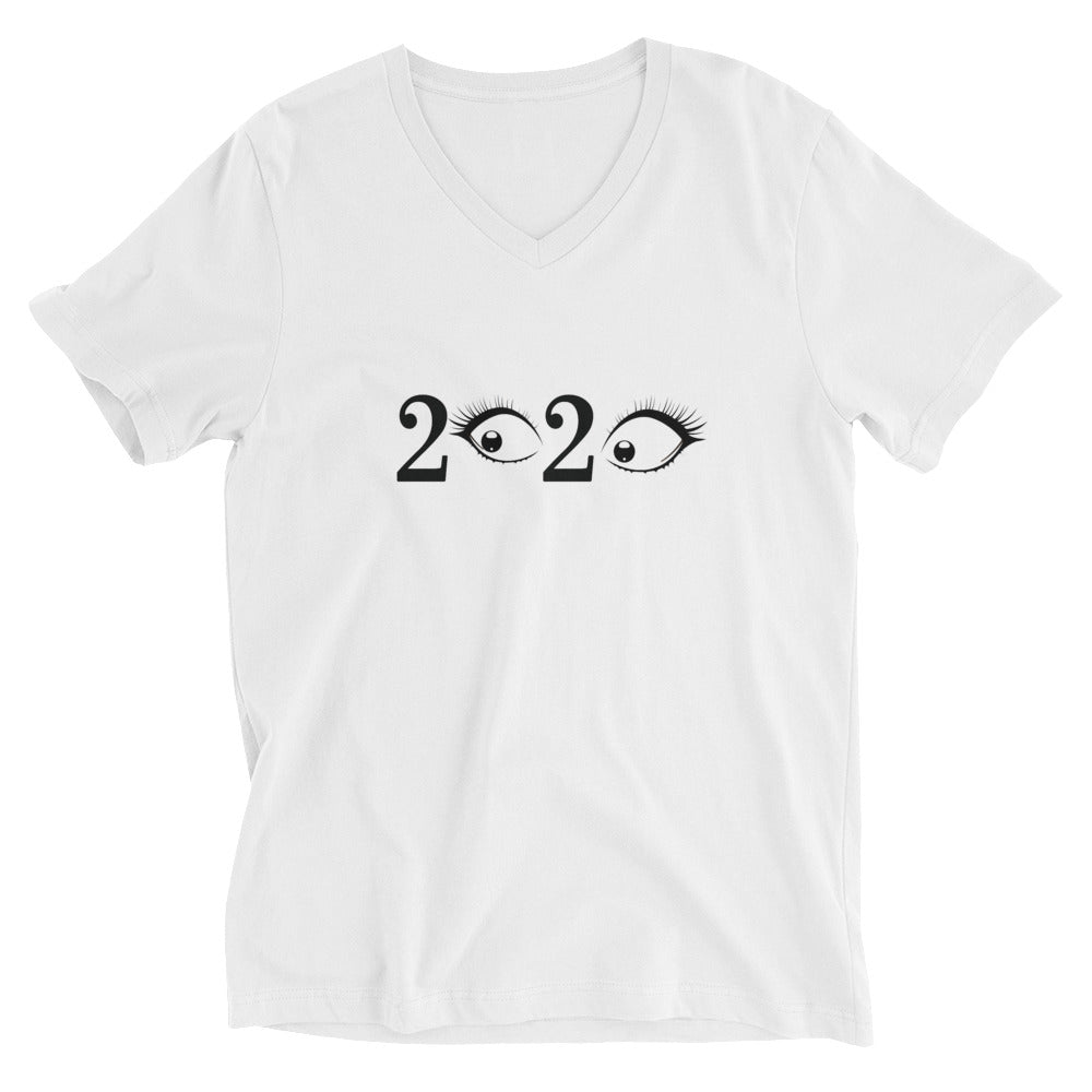 Unisex Short Sleeve V-Neck T-Shirt - 2020 F Dark