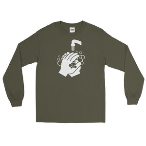 Long Sleeve T - Clean Hands Light