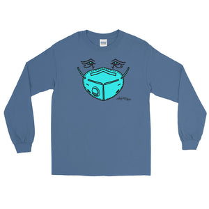 Long Sleeve T - Blue Mask Eyes