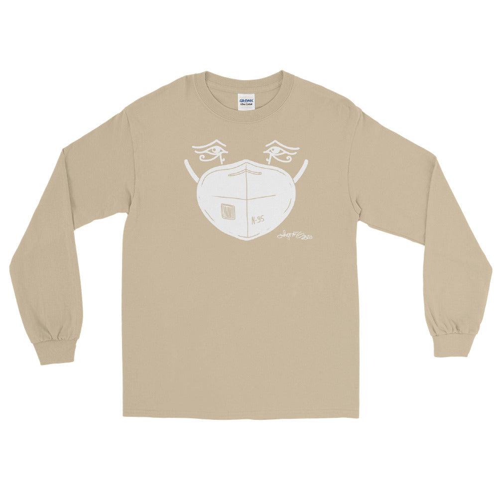Long Sleeve T - White Mask Eyes
