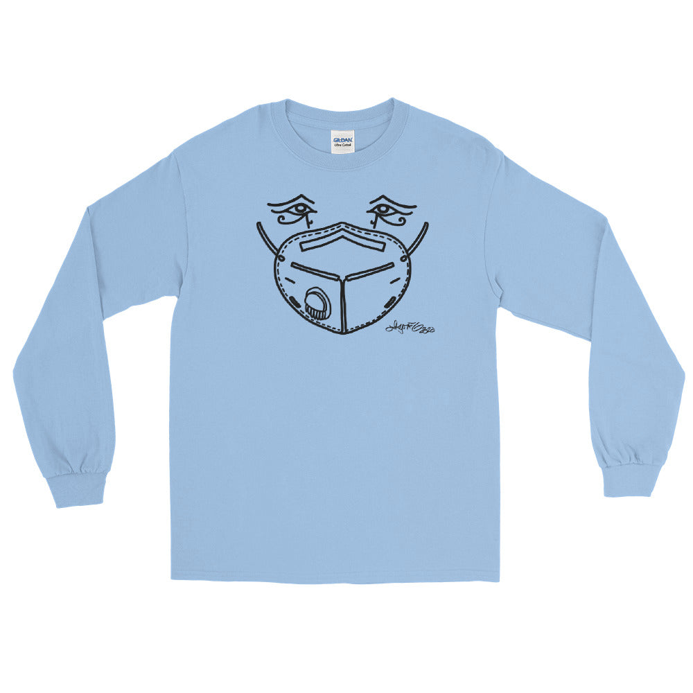 Long Sleeve T - Mask Eyes Dark