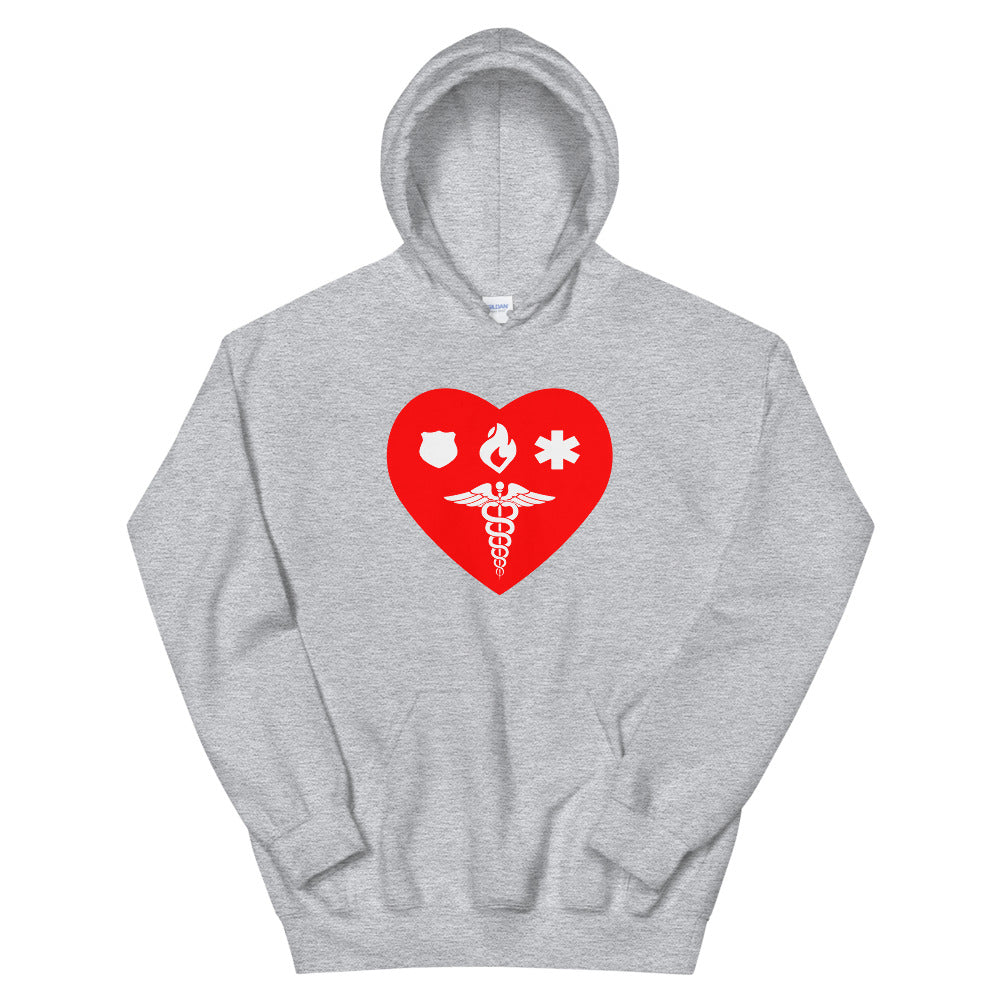 Hooded Sweatshirt - Healthcare 1st Responder Love