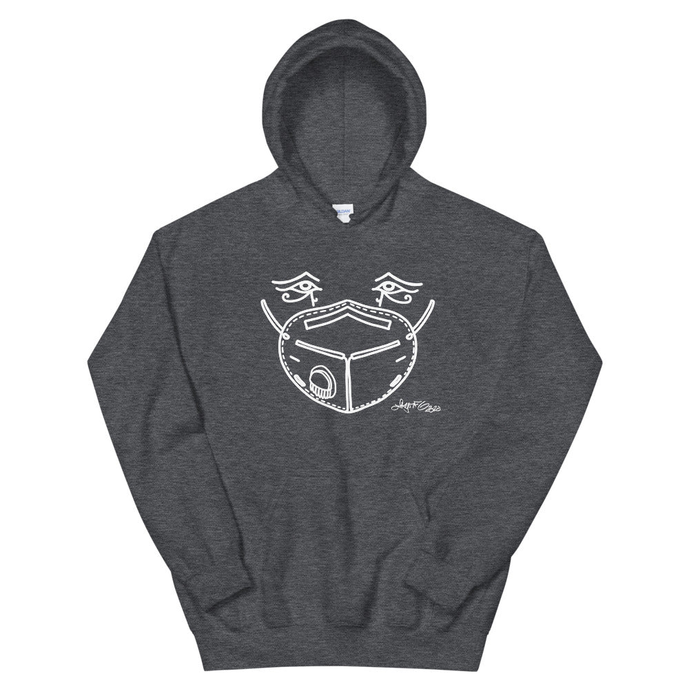 Hooded Sweatshirt - Mask Eyes Light