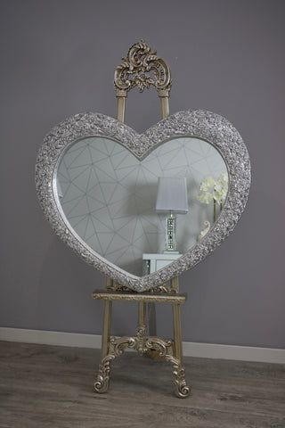 Rosa Heart Mirror Chrome