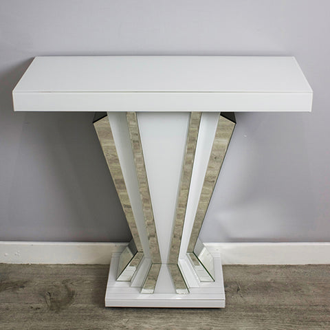 Bianco fan console table