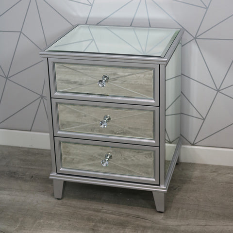 Saltire 3 Drawer Bedside