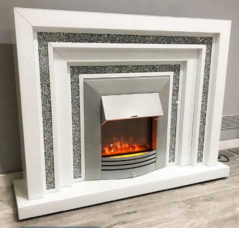 Mocka White Levels Fireplace