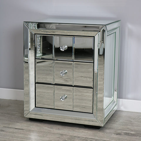 Empire 3 Drawer Bedside Cabinet