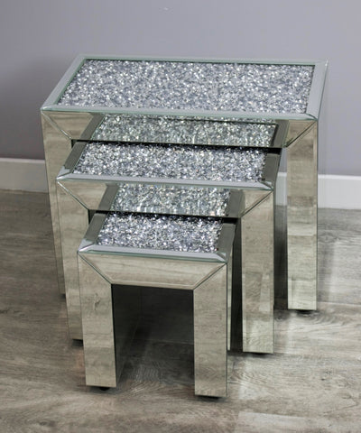 Mocka Diamond Crush Nest Of Tables