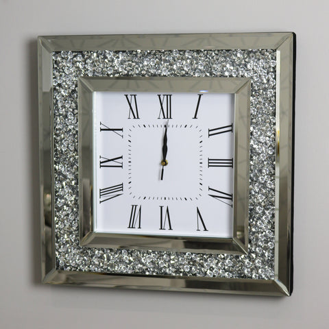 Square Mocka Diamond Crush Clock