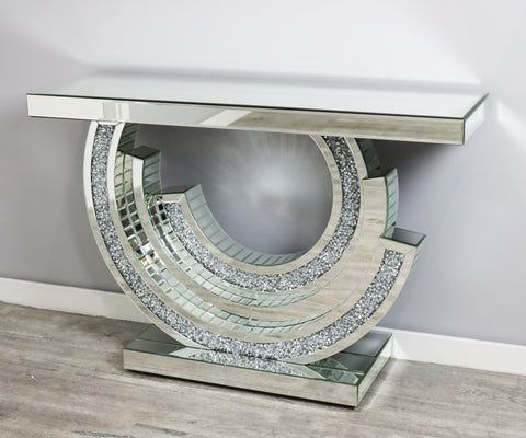 Mocka Crescent Console Table