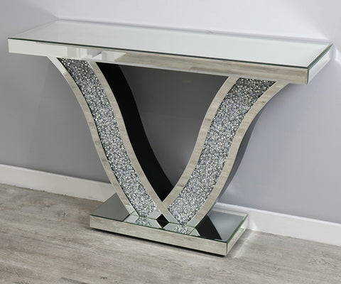 Mocka ~V Diamond Crush Console Table