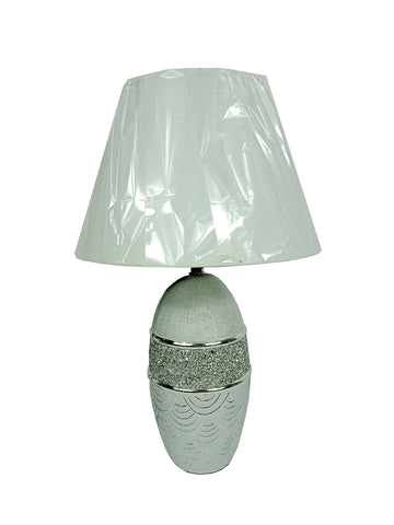 Ceramic Table Lamp Chrome/Silver