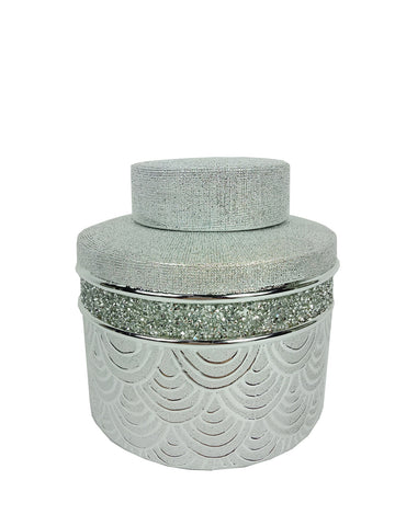 Ceramic Trinket Box Chrome