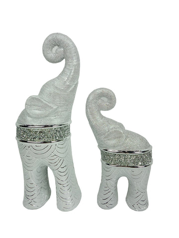 Ceramic Elephant Set Chrome