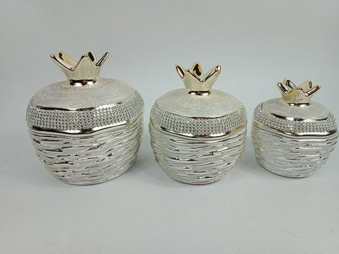 Ceramic Small Pot Set Gold