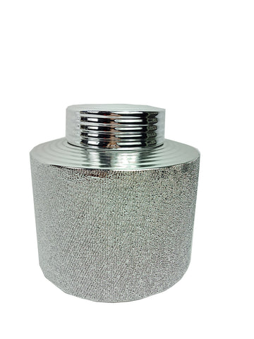 Chrome Ceramic Trinket Box