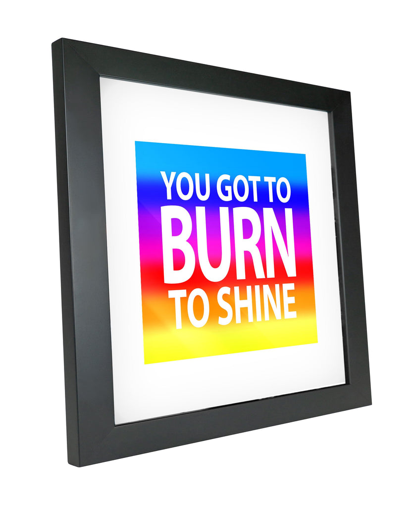 "Skulpta Canvas Print 30x30cm / 12x12"" / Fine Art Frame ・""Burn to Shine""・"