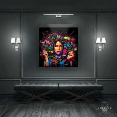 "Skulpta Canvas Print 30x30cm / 12x12"" / Rolled Canvas ・""Afro Beauty""・"