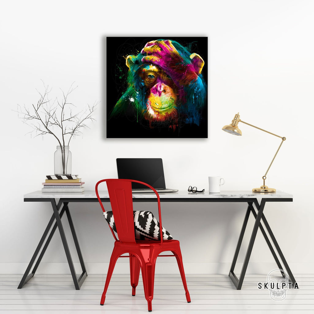 "Skulpta Canvas Print 30x30cm / 12x12"" / Rolled Canvas ・""Monkey View""・"