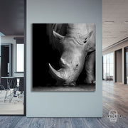 "Skulpta Canvas Print 30x30cm / 12x12"" / Rolled Canvas ・""Rhino""・"
