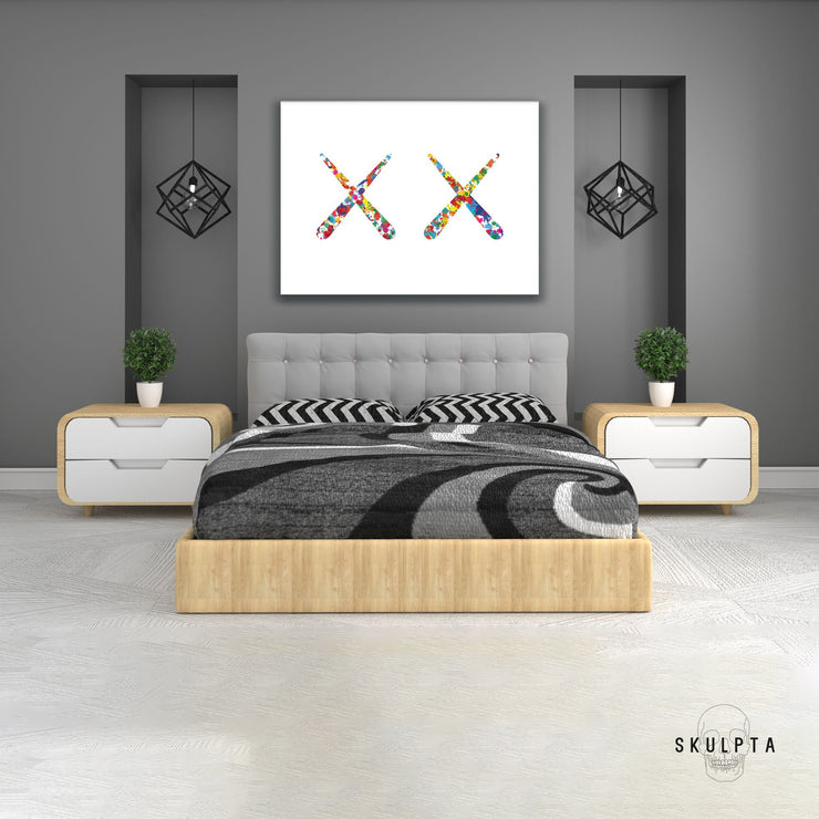 "Skulpta Canvas Print 30x40cm / 12x16"" / Rolled Canvas ・""Double X""・"