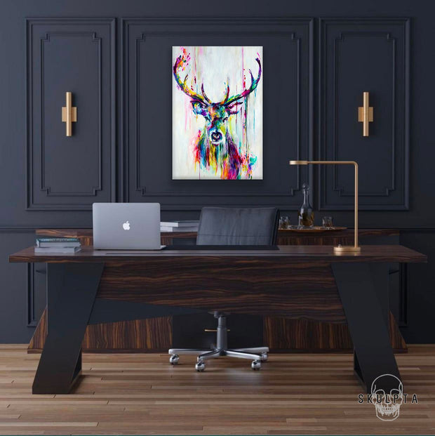 "Skulpta Canvas Print 30x40cm / 12x16"" / Rolled Canvas ・""Moose View""・"