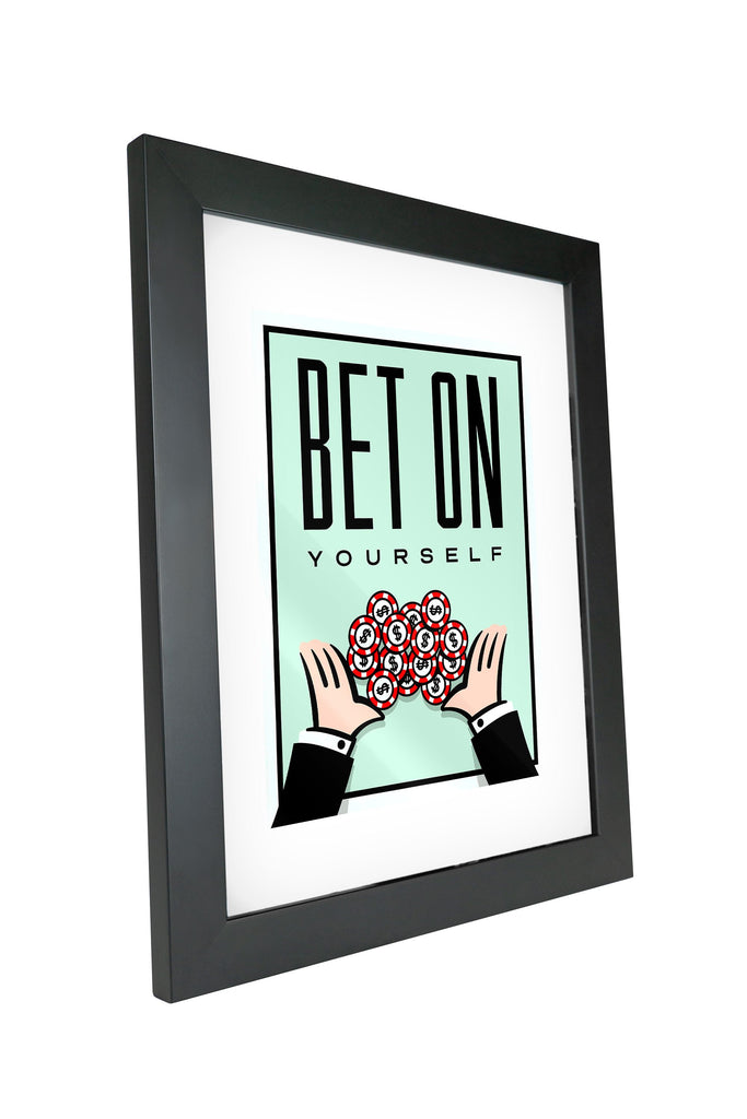 "Skulpta Canvas Print 30x45cm / 12x18"" / Fine Art Frame ・""Bet On Yourself !""・"