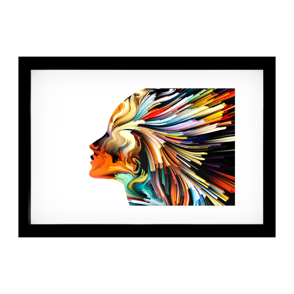 "Skulpta Canvas Print 30x45cm / 12x18"" / Fine Art Frame ・""Colorful Head""・"