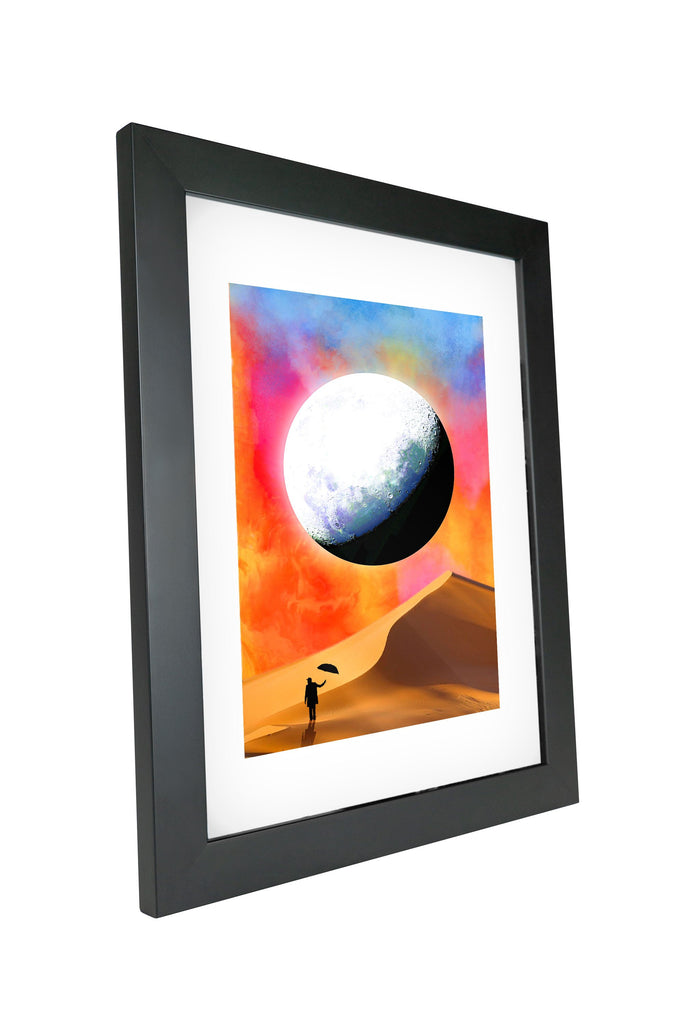 "Skulpta Canvas Print 30x45cm / 12x18"" / Fine Art Frame ・""Mountains Marble""・"