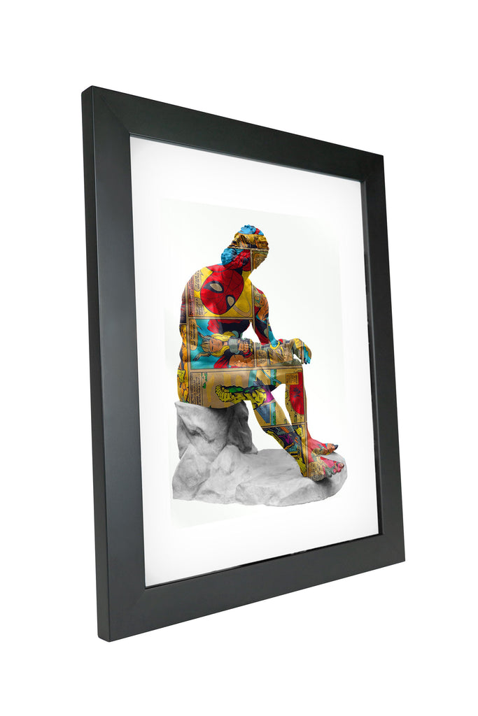 "Skulpta Canvas Print 30x45cm / 12x18"" / Fine Art Frame ・""Reflectant Spider-Man""・"