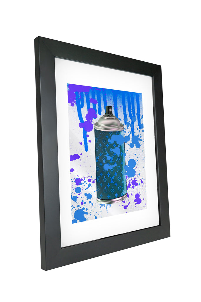 "Skulpta Canvas Print 30x45cm / 12x18"" / Fine Art Frame ・""Stylish Spray - Blue""・"