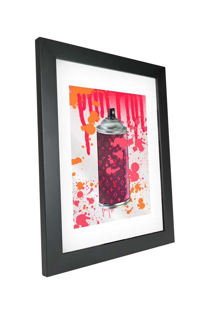 "Skulpta Canvas Print 30x45cm / 12x18"" / Fine Art Frame ・""Stylish Spray - Red""・"