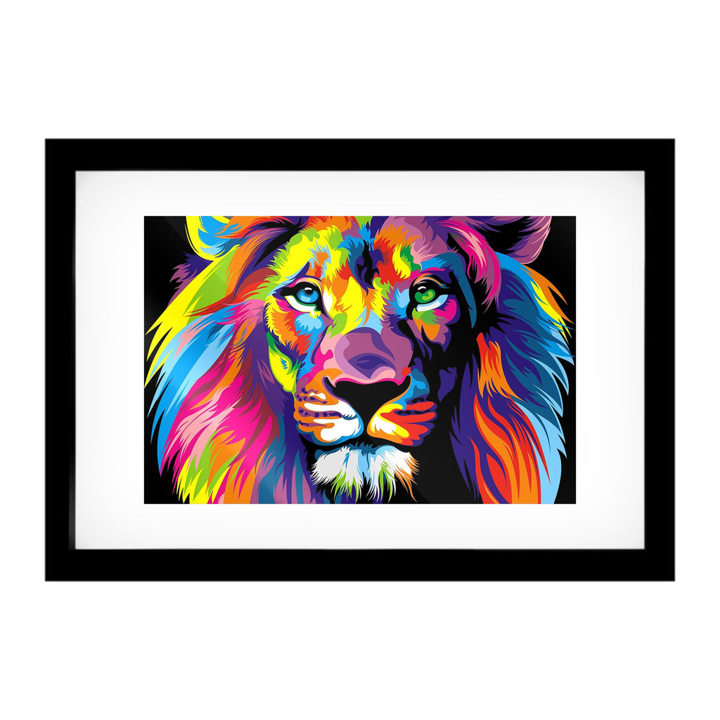 "Skulpta Canvas Print 30x45cm / 12x18"" / Fine Art Frame ・""The Lion Face""・"