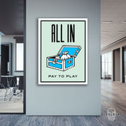 "Skulpta Canvas Print 30x45cm / 12x18"" / Rolled Canvas ・""All In !""・"