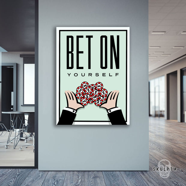 "Skulpta Canvas Print 30x45cm / 12x18"" / Rolled Canvas ・""Bet On Yourself !""・"