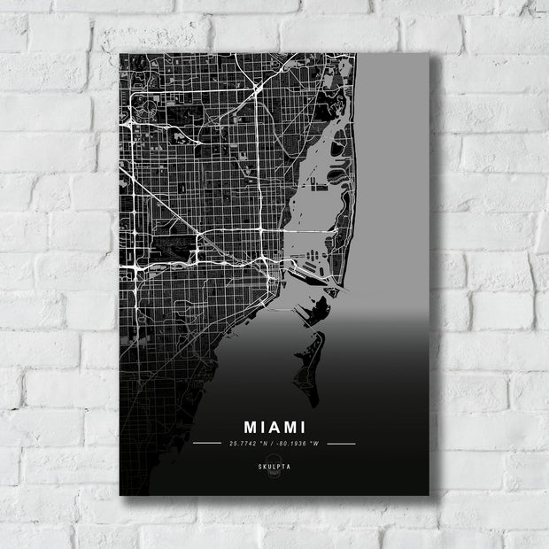"Skulpta Canvas Print 30x45cm / 12x18"" / Rolled Canvas ・""MIAMI""・"