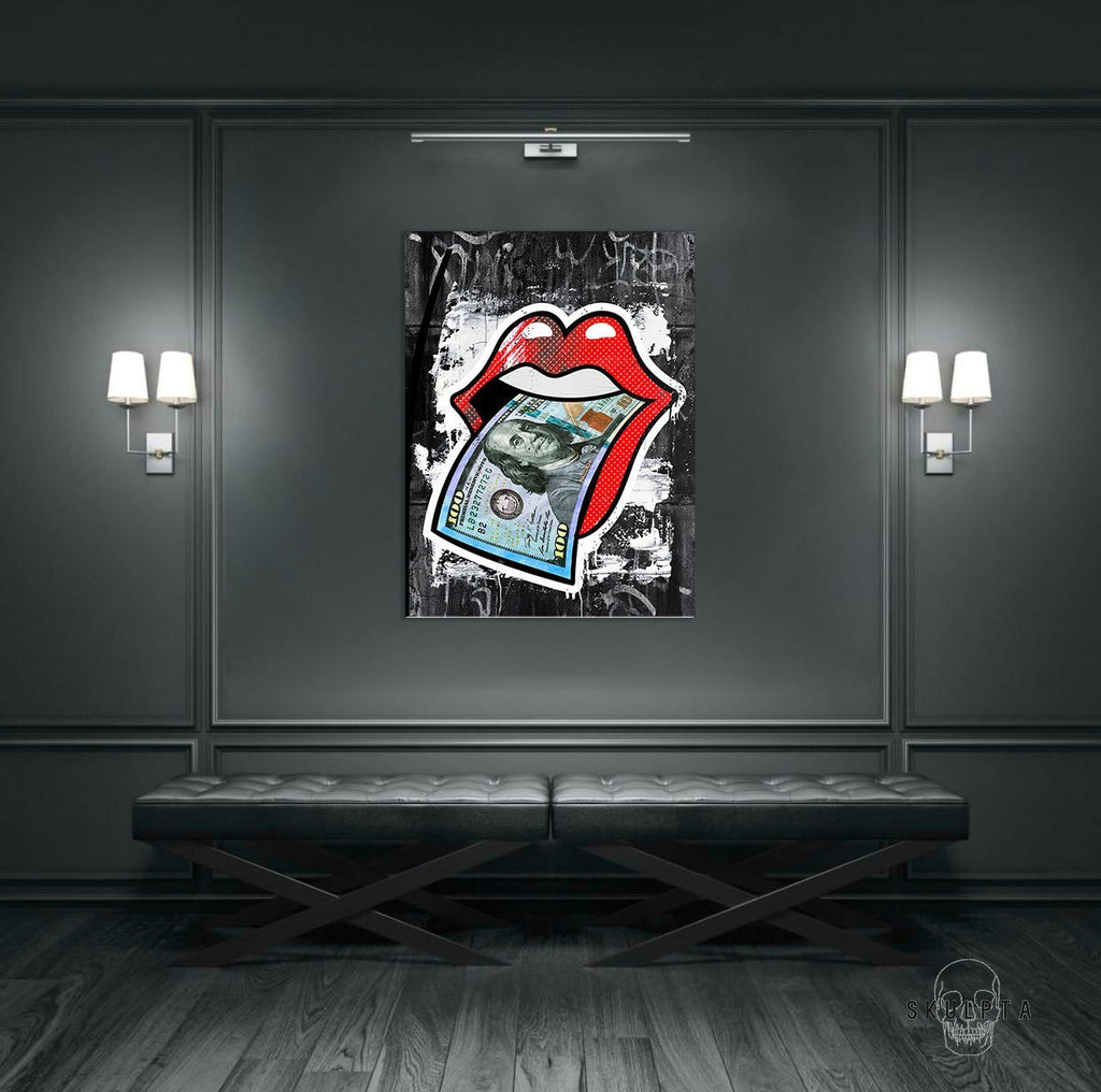 "Skulpta Canvas Print 30x45cm / 12x18"" / Rolled Canvas Canvas ・""$ Lips ""・"